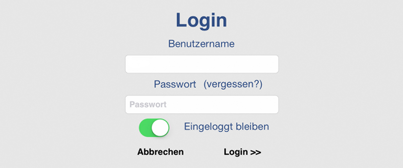 Screenshot DRiZApp Login